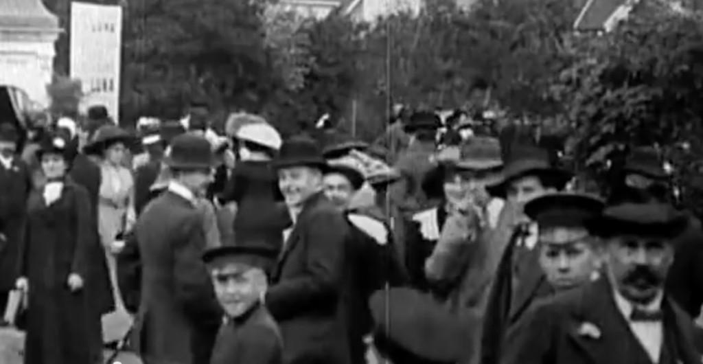 Łódź na Starym Filmie z 1912 Roku