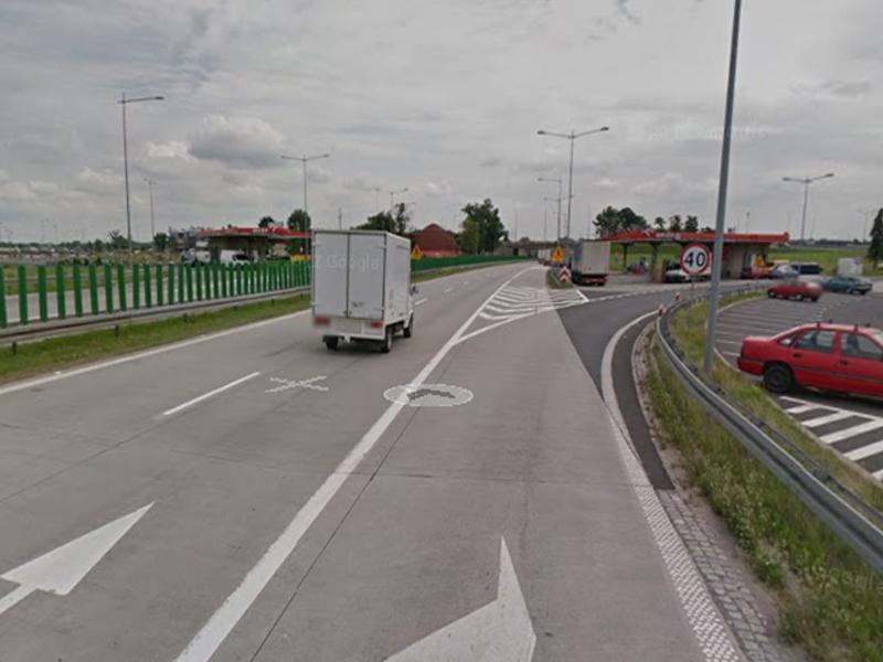 Autostrada A4 w 2011 roku - Źródło: Google Street View