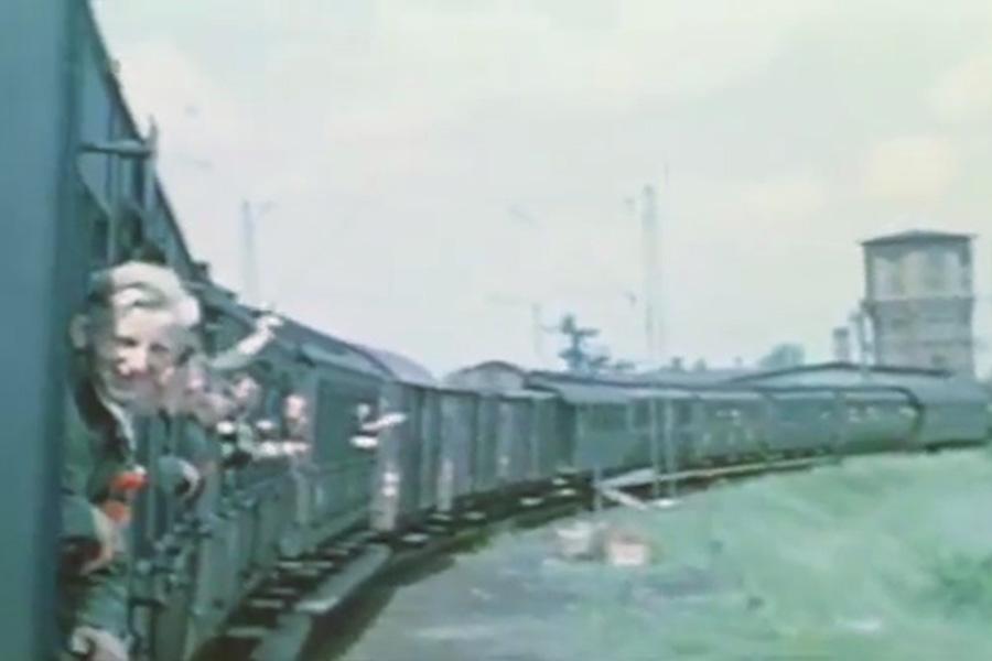 Świebodzice na Starym Filmie z 1940 Roku