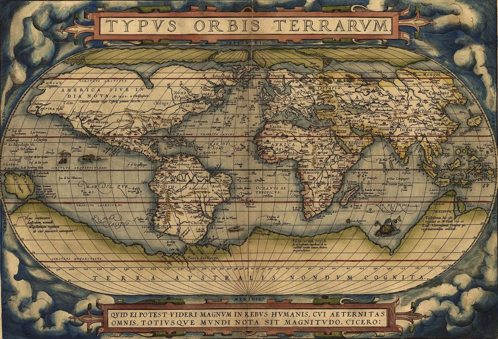 Mapa Świata 1570 Rok