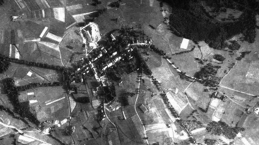 Miedzianka Przed Zniszczeniem - Zdjęcie Lotnicze