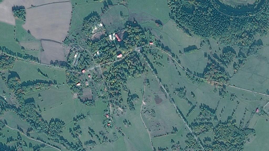 Miedzianka Po Zniszczeniu - Zdjęcie Satelitarne