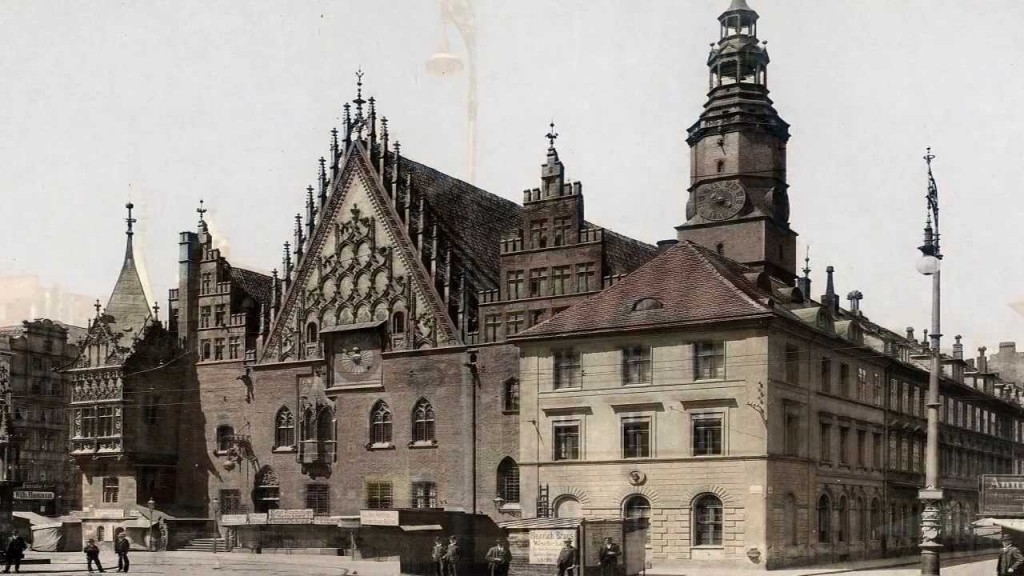 Wrocław Breslau przed wojną i dzisiaj