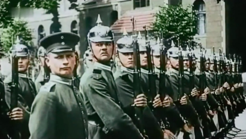 Pruscy żołnierze - Film z 1900 roku