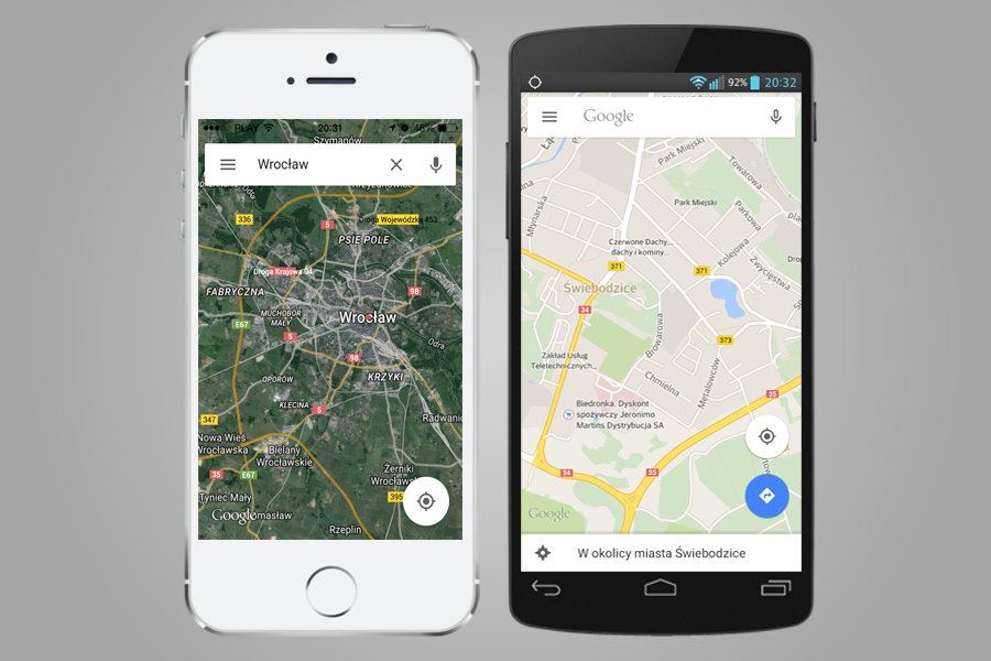 Google Maps - Mapy na Androida i iOSa