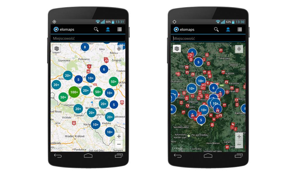 Aplikacja Mapa Turystyczna na Androida