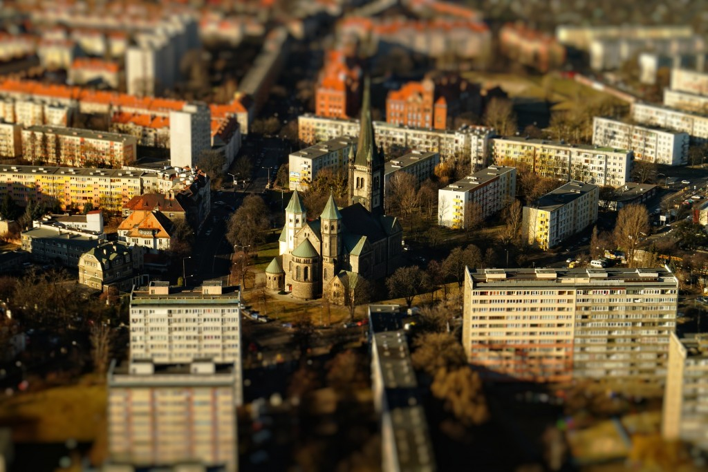 Wrocław - Technika Tilt-Shift