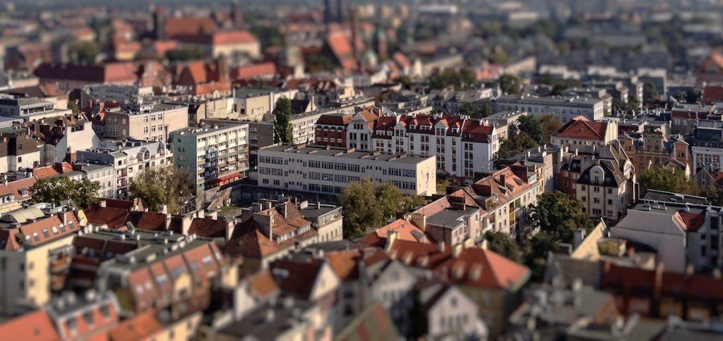 Wrocław - Efekt Tilt-Shift