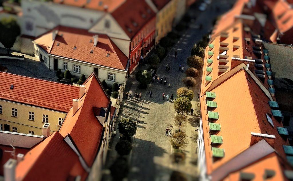 Ostrów Tumski Wrocław - Efekt Tilt-Shift