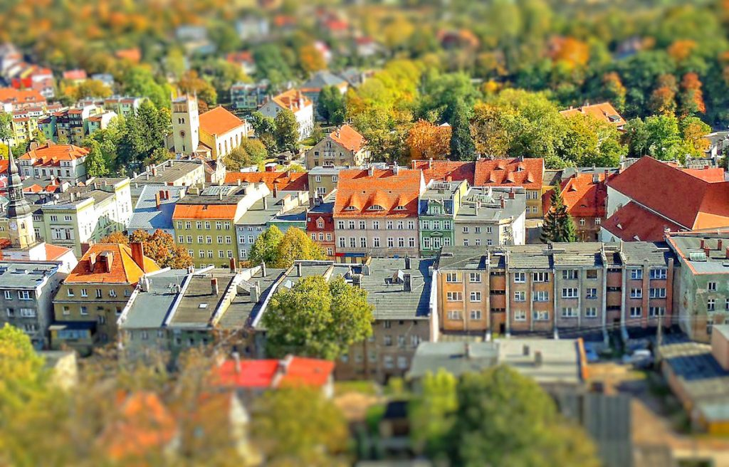 Bolków - Efekt Tilt-Shift