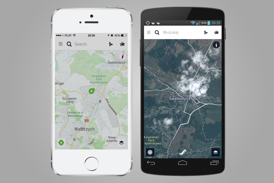 HERE Nokia - Mapy na Androida i iOSa