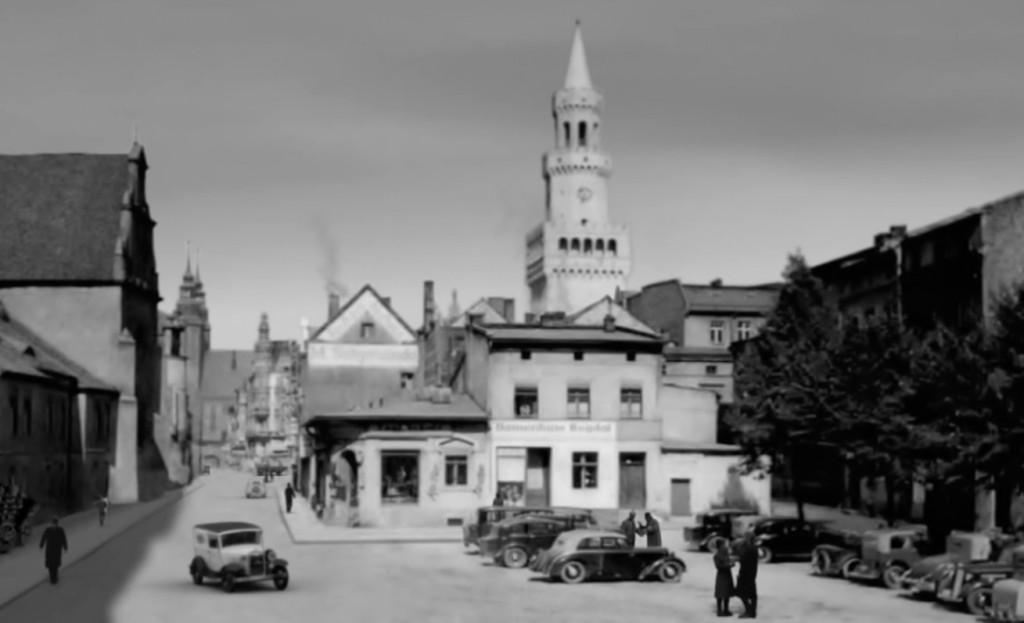 Opole w 1939 roku, kadr z filmu - Źródło: www.youtube.com