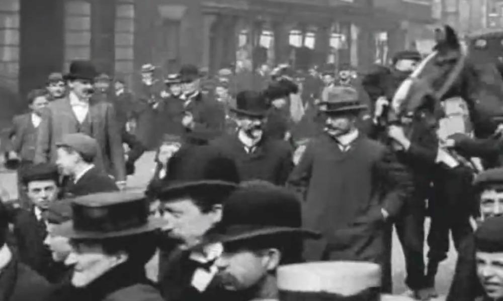 Anglia na Starym Filmie z 1900 Roku