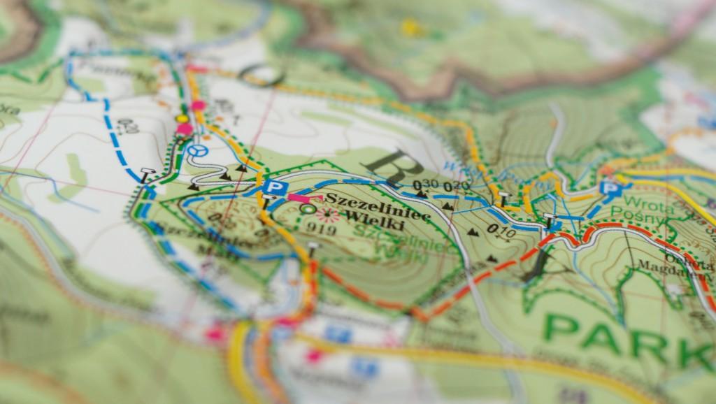 Znaczenie kolorów szlaków turystycznych - Szlaki na mapie ExpressMap