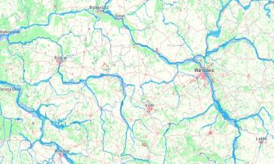 mapa powodz