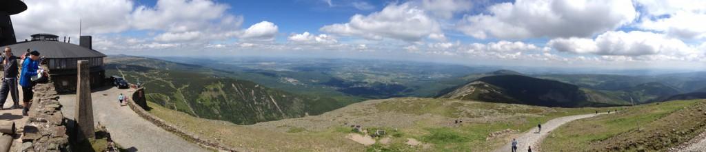 Panorama ze Szczytu Śnieżki