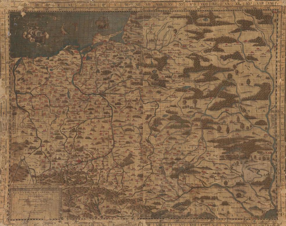 Stara Mapa Polski z 1570 Roku