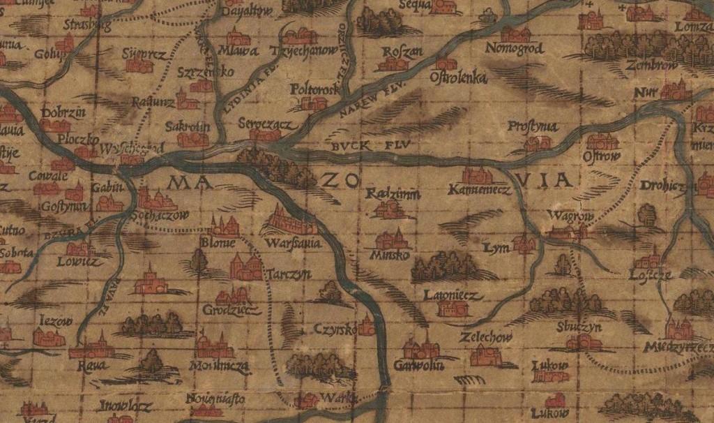 Stara Mapa - Mazowsze i Warszawa