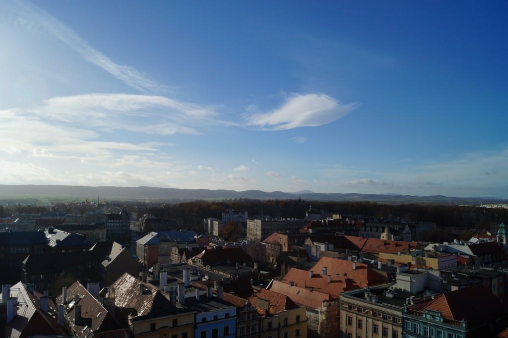 Panorama z Wieży Ratusza w Świdnicy