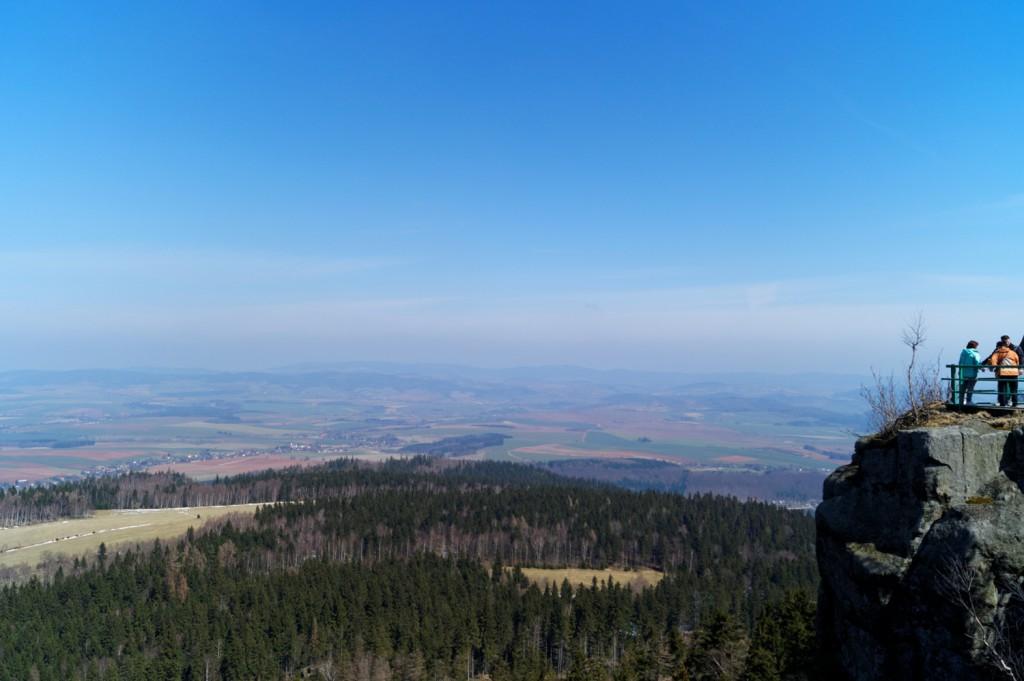 Widok z Platformy Widokowej na Szczelińcu