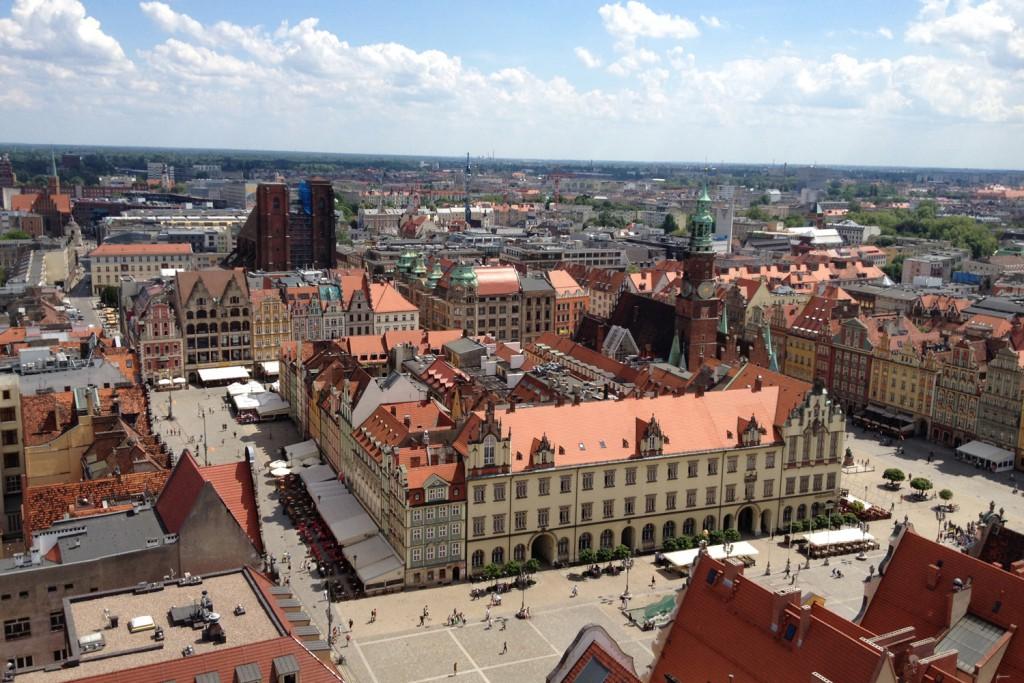 Widok z Wieży Kościoła św. Elżbiety we Wrocławiu
