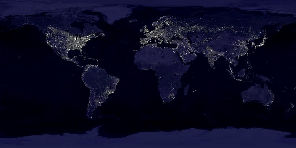 Światła na Ziemi Widziane z Kosmosu - Źródło: NASA GSFC