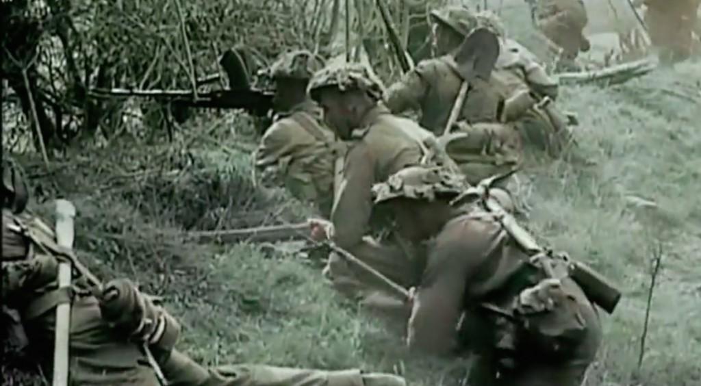 Żołnierze Brytyjscy Podczas Walk na Froncie Zachodnim