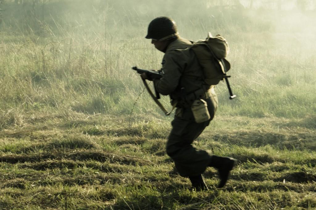 Żołnierz US Army Pod Ogniem Przeciwnika