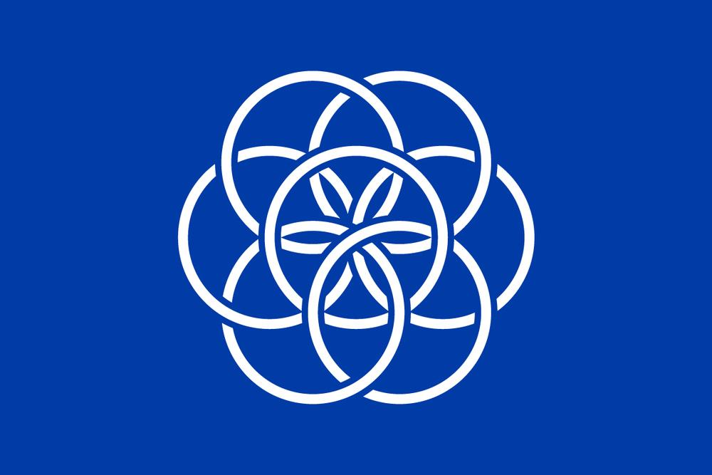 Projekt Międzynarodowej Flagi Ziemi - Źródło: www.flagofplanetearth.com
