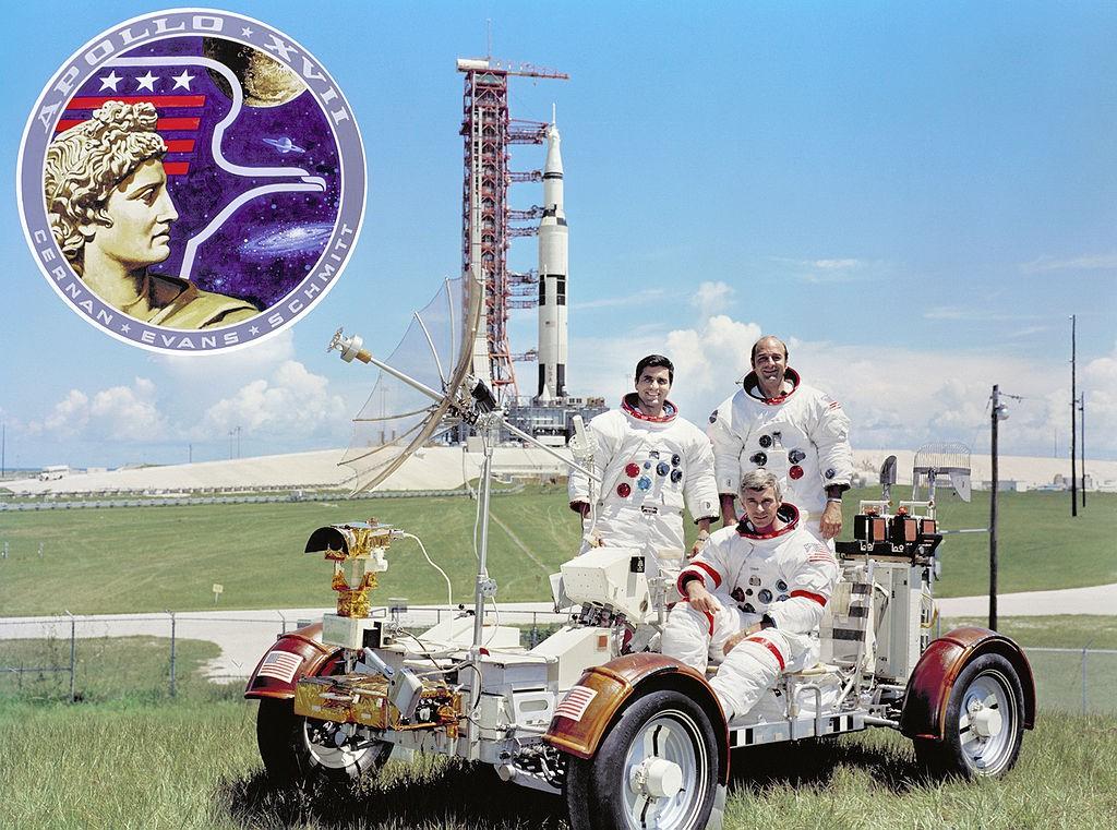 Załoga Misji Apollo 17 Przed Startem - Autor: NASA Źródło: commons.wikimedia.org