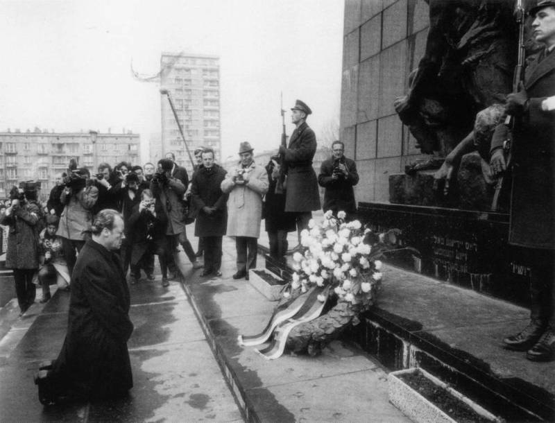 Willy Brandt Klęczy Pod Pomnikiem w Warszawie - Źródło: commons.wikimedia.org