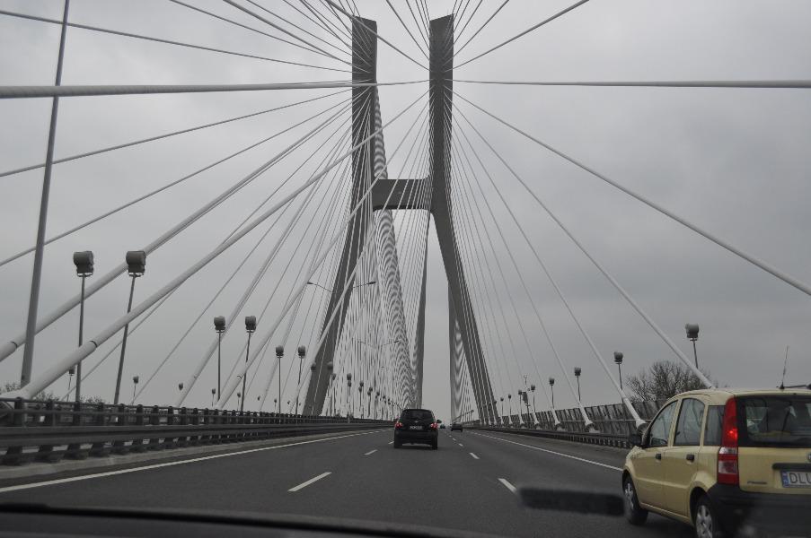 Przejazd przez Most Rędziński - Autor: Dolny Śląsk Fotografie