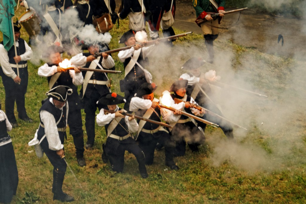 Ostrzał regimentów pruskich