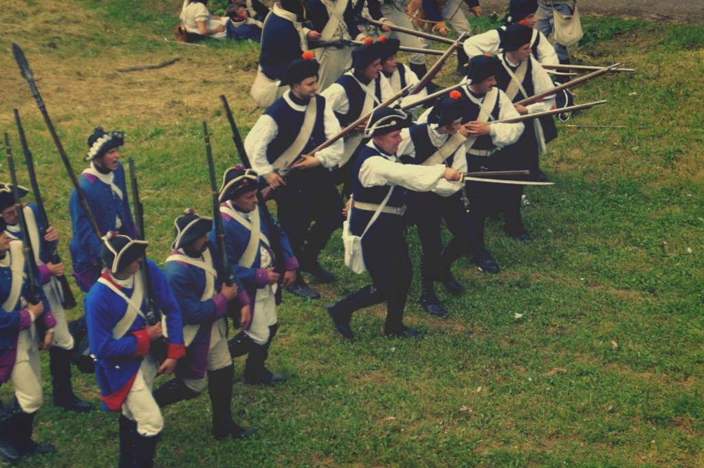 Regimenty pruskie idą do szturmu