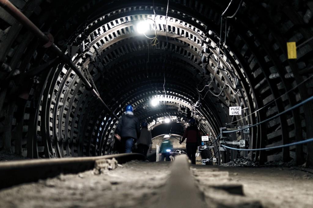 Torowisko i górniczy chodnik