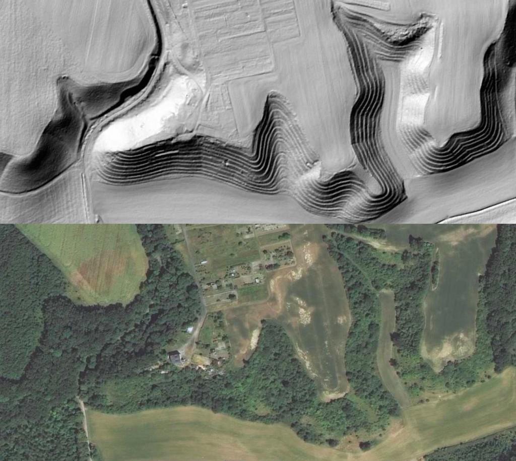 Tarasowane zbocza w Lubaszczu - Lista niezwykłych miejsc w Polsce - Źródło: Geoportal