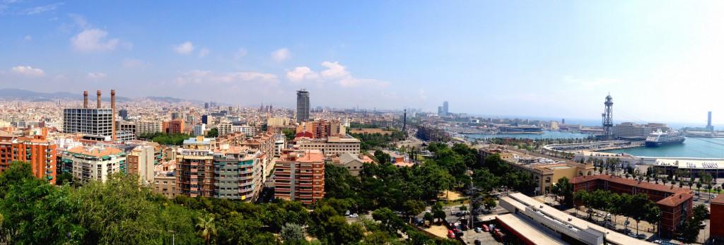 Barcelona - Panorama wykonana iPhonem 4s (plus filtr)