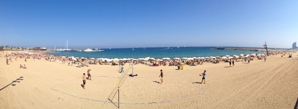 Barcelona - Panorama wykonana iPhonem 4s