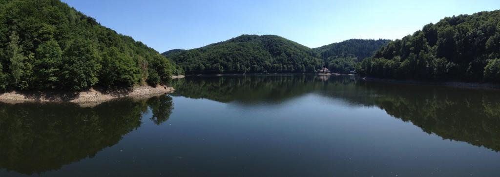 Jezioro Lubachowskie - Panorama wykonana iPhonem 4s