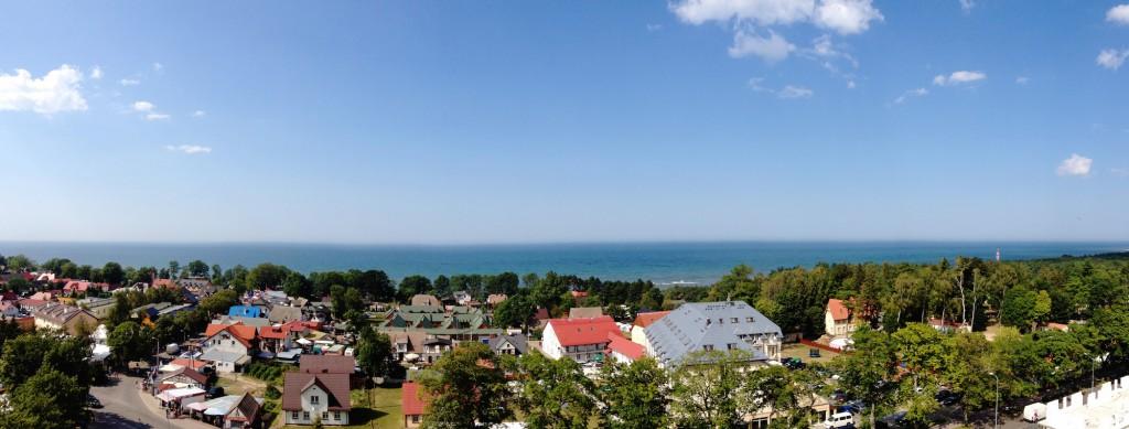 Morze Bałtyckie i Jarosławiec - Panorama wykonana iPhonem 4s