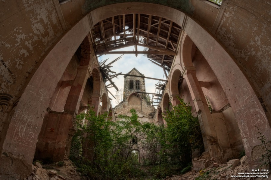 Kościół Ewangelicki w Starych Jaroszowicach - Wnętrze - Foto: Wioletta Kozłowska