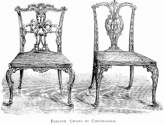 Krzesła z XIX wieku - Historia krzesła - Źródło: commons.wikimedia.org