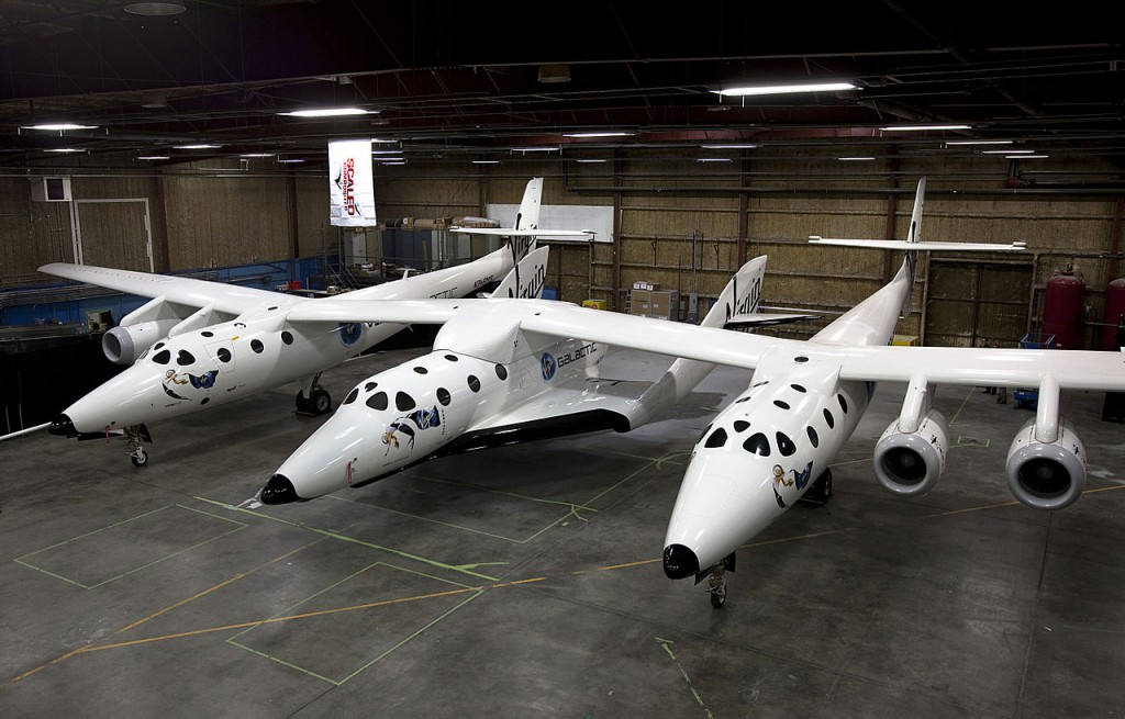 SpaceShipTwo i WhiteKnightTwo - Źródło: Virgin Galactic/Mark Greenberg