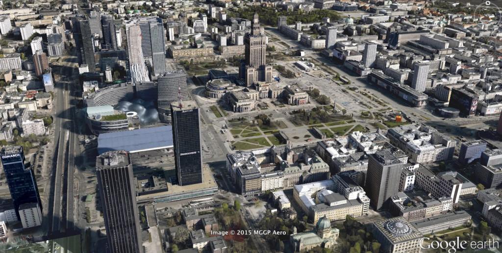 Warszawa w 3D - Źródło: Google Earth