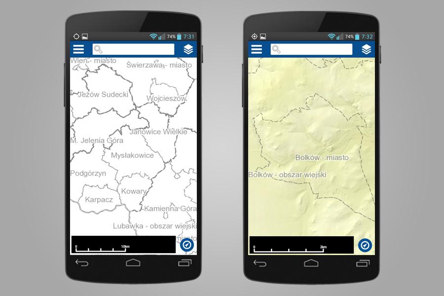 Rejestr granic i nazw geograficznych - Aplikacja Geoportal Mobile