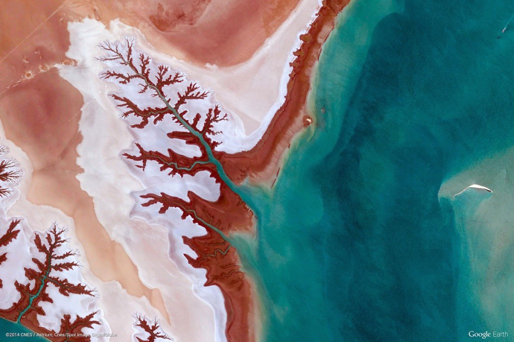 Bagna Hammar w Iranie - Zdjęcia Ziemi Źródło: earthview.withgoogle.com