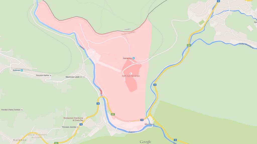 Fragment Przekazany Czechosłowacji - Wieś Tkacze - Źródło: Google Maps