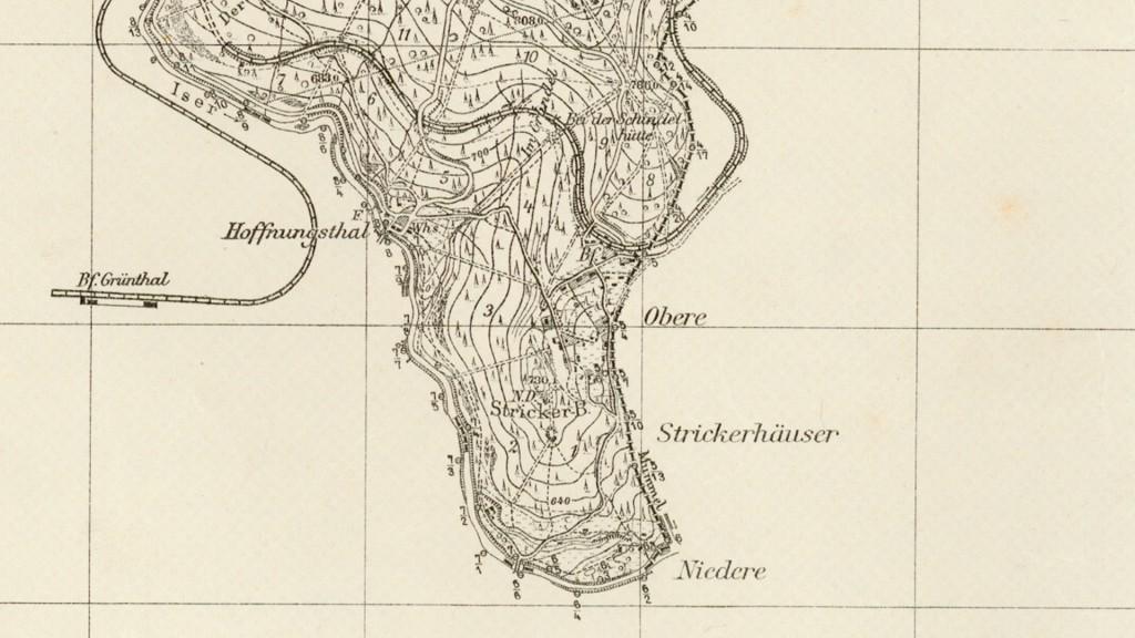 Tkacze - Stara niemiecka mapa z 1936 roku - Źródło: mapy.amzp.pl