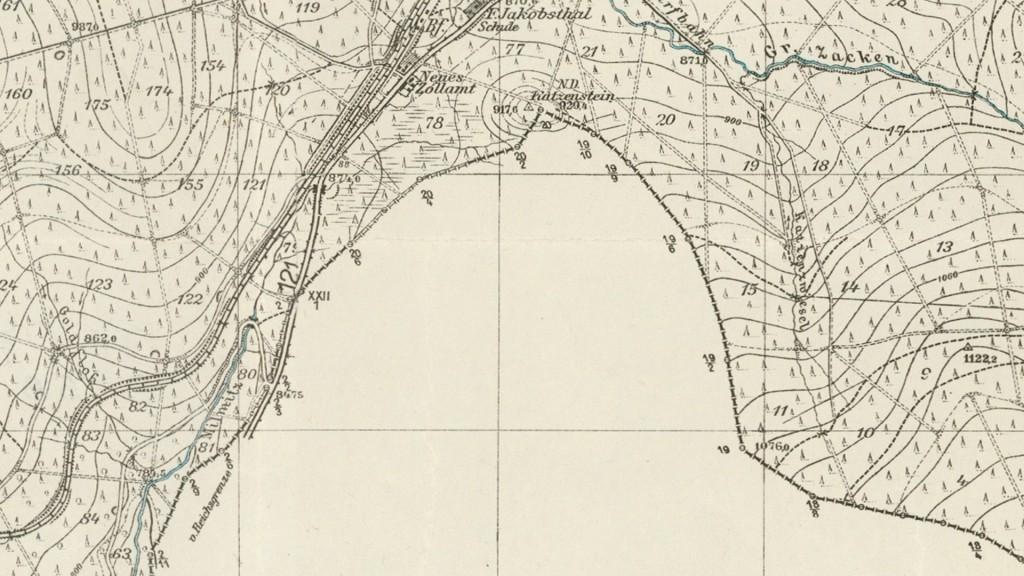 Szczyt Kocierz - Stara niemiecka mapa z 1936 roku - Źródło: mapy.amzp.pl