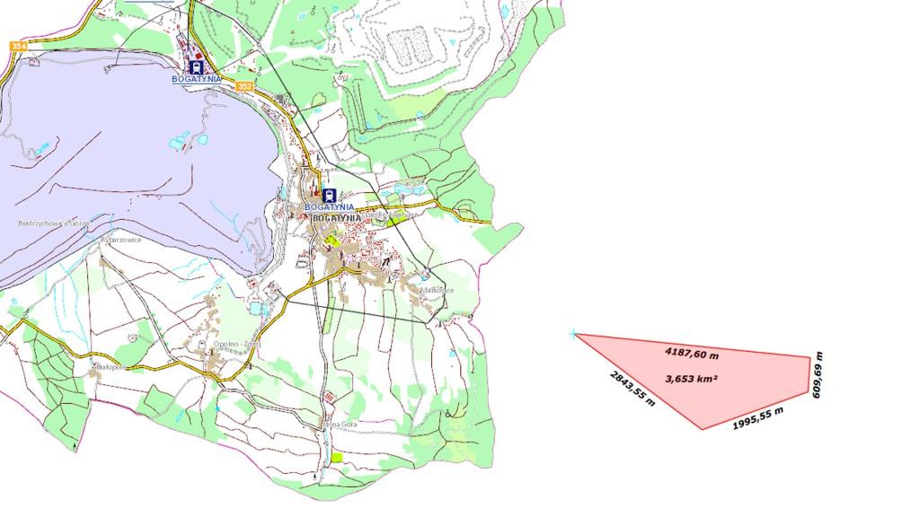 """Poglądowa szacunkowa wielkość czeskiego """"długu granicznego"""" - Źródło: geoportal.gov.pl"""